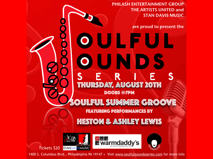 The Soulful Sounds Series Smooth Summer Groove with Heston and Ashley Lewis on August 20, 2015 at Warmdaddy's.